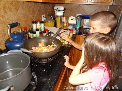 making beef samosas