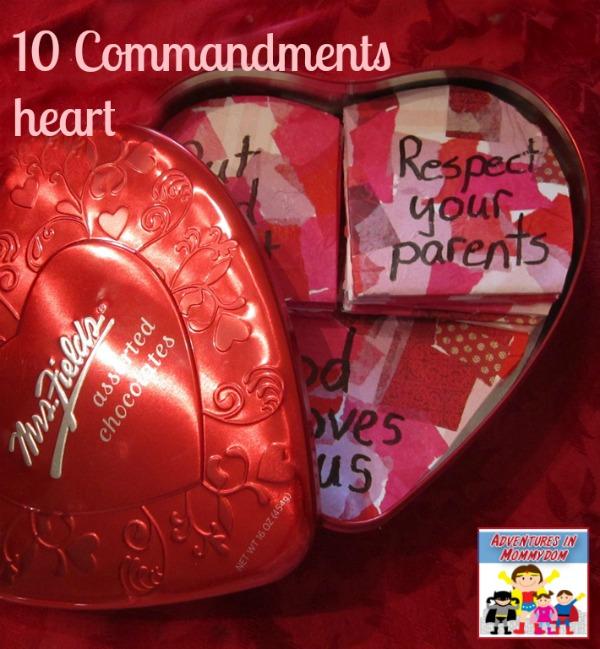 10 Commandments heart