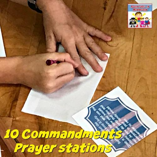 10 Commandments prayer stations