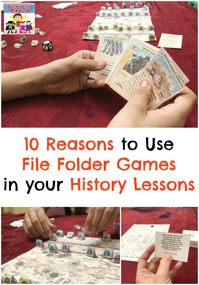 10 Reasons to Use File Folder Games in your History lessons