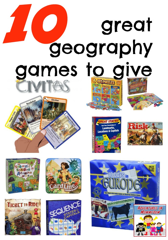 10 great geography games to give