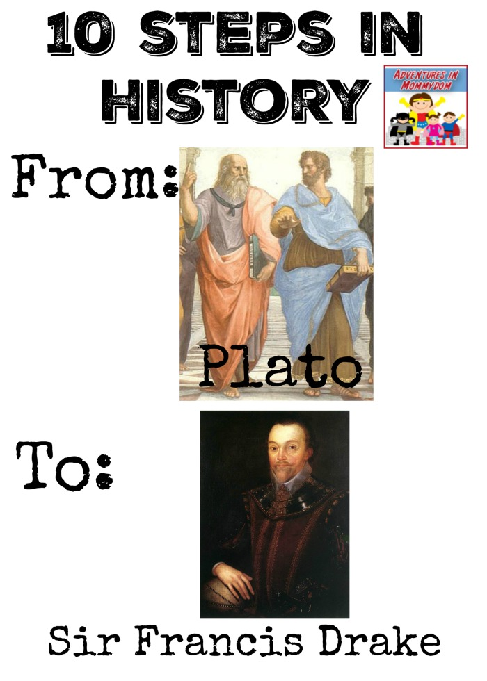 10 Steps in history from Plato to Sir Francis Drake