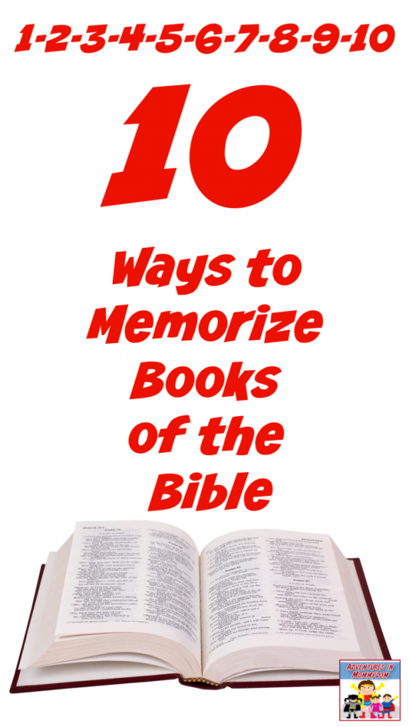 10 ways to Memorize the Books of the Bible