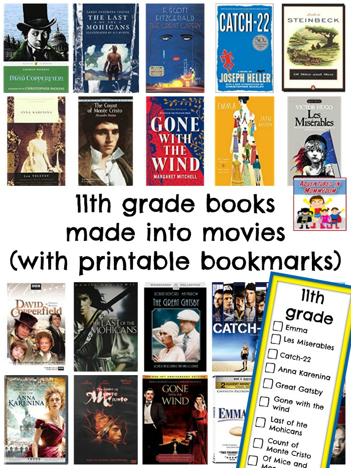 11th grade books made into movies