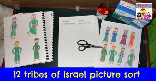 12 tribes of Israel picture sort