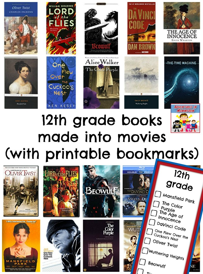 12th grade books made into movies