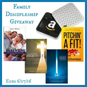 Parenting and Discipleship giveaway with 4 books by Israel and Brook Wayne