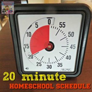 The 20 minute homeschool schedule
