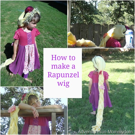 how to make a Rapunzel wig