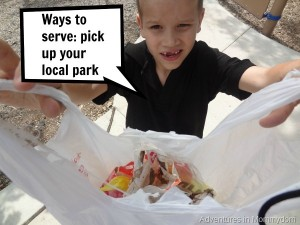 Teaching kids to serve others