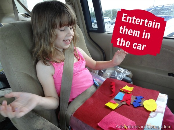 entertain them in the car