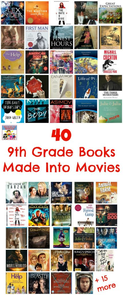 40 9th grade books made into movies