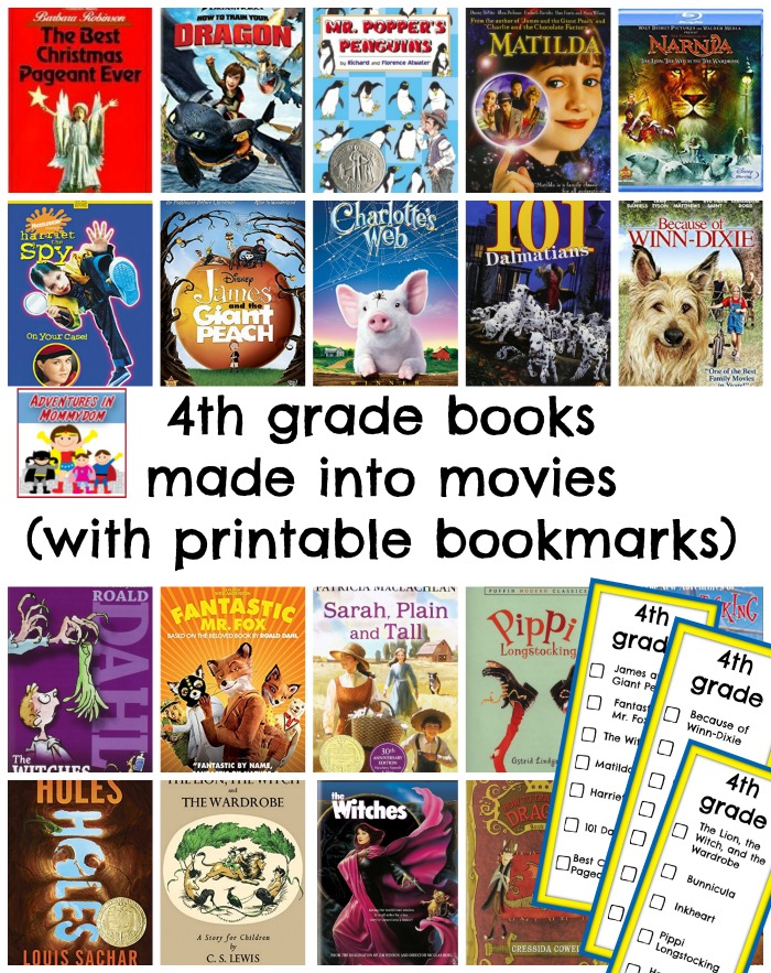 4th grade books made into movies