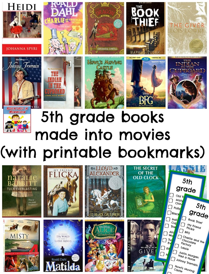 5th grade books made into movies