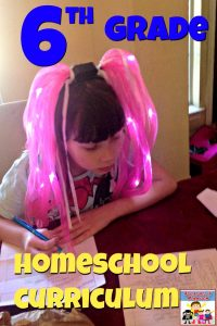 6th Grade homeschool curriculum for my crazy active learners