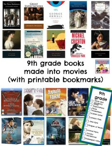 9th grade books made into movies
