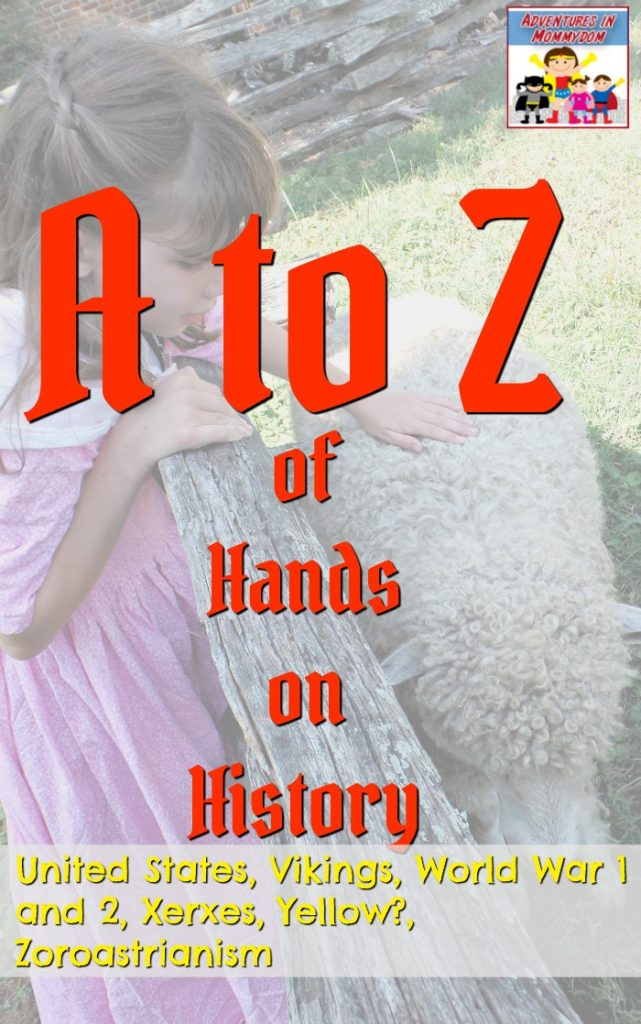 A to Z of Hands on history United States, Viking, World War 1 and 2, Xerxes, Zoroastrianism