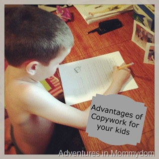 Advantages of Copywork for your kids