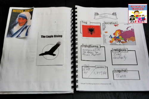 Albania notebooking page