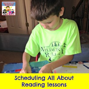 All About Reading schedule