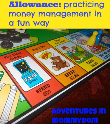 Allowance money management game