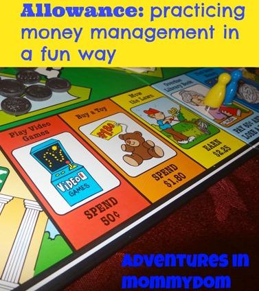 Allowance money management game