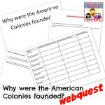 American colonies founded webquest for middle school