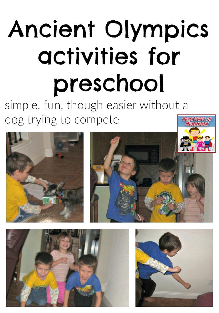 Ancient Olympics activities for preschool