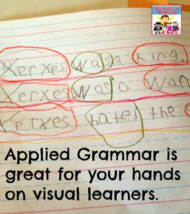Applied Grammar is great for hands on and visual learners