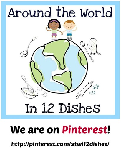 Around the World in 12 dishes on pinterest