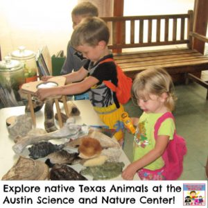 Austin Science and Nature Center Field trip for elementary and preschool