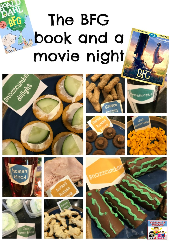 BFG book and a movie night snacks