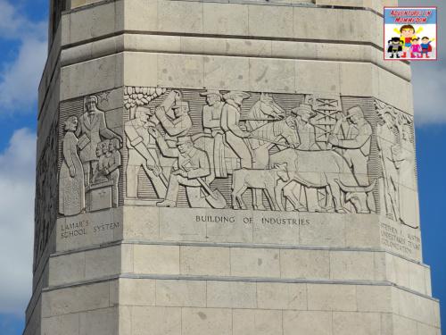 Battle of San Jacinto obelisk mural
