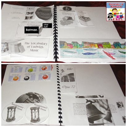 Beethoven interactive lapbooks