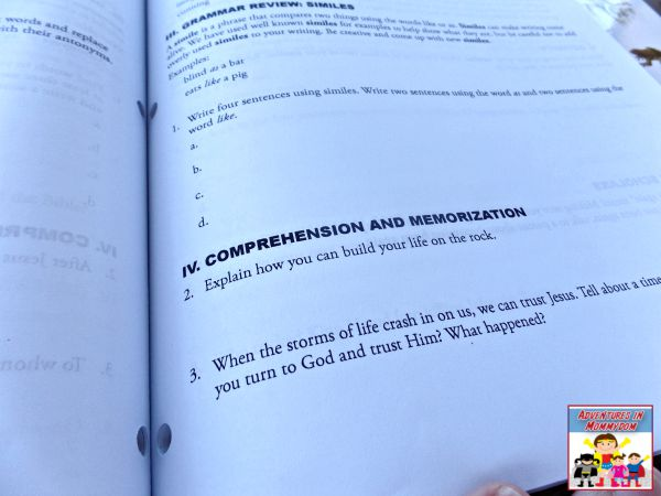 Bible and grammar curriculum homeschool