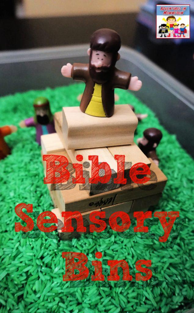 Bible sensory bin