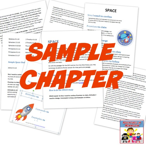 Bible study for kids sample chapter