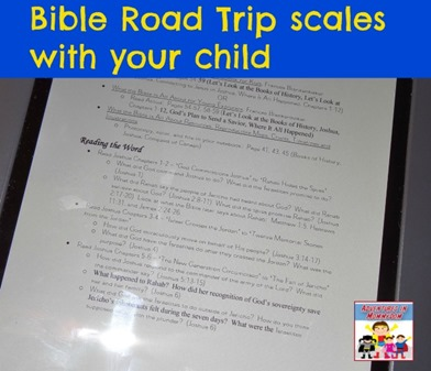 Bible Road Trip levels with your child