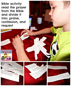 Bible activity read the prayer