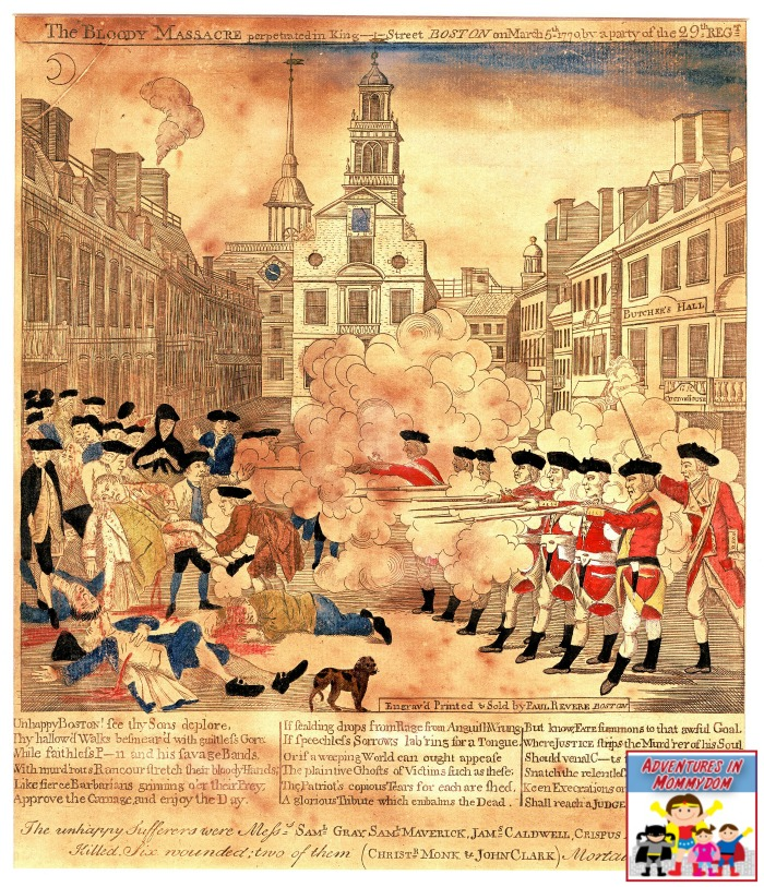 Boston Massacre engraving