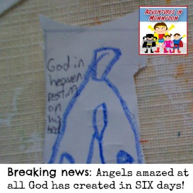 Breaking news angels amazed at all God has create
