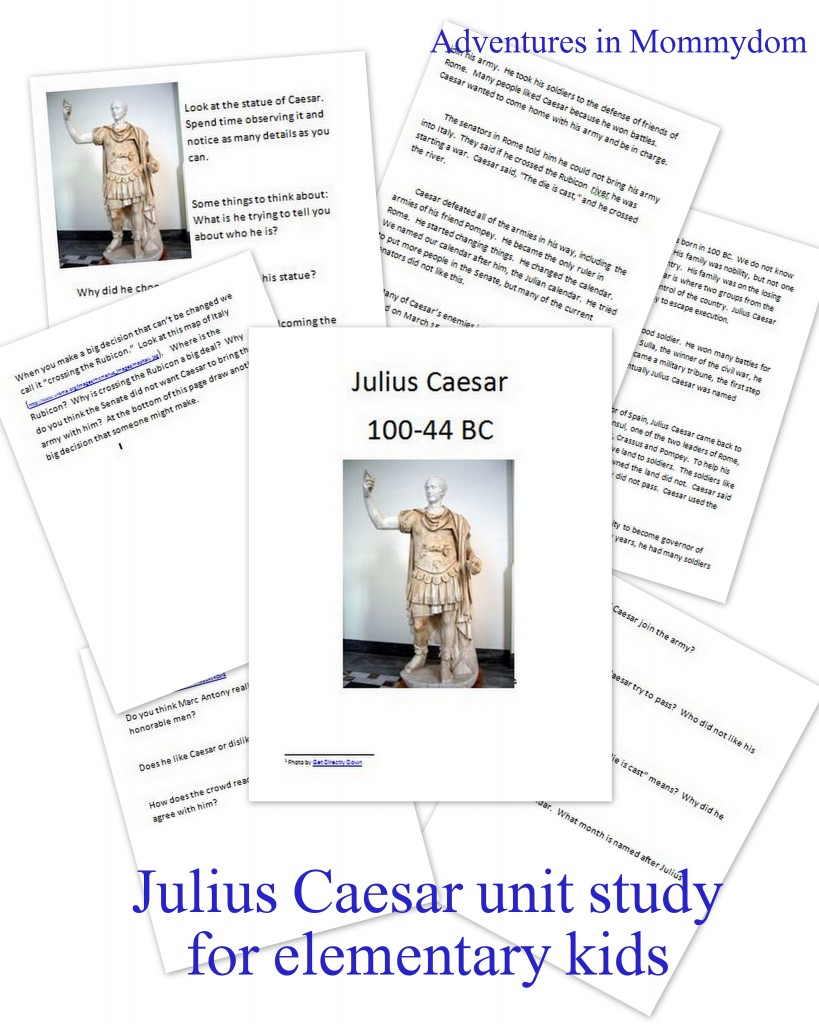 Julius Caesar unit for elementary kids