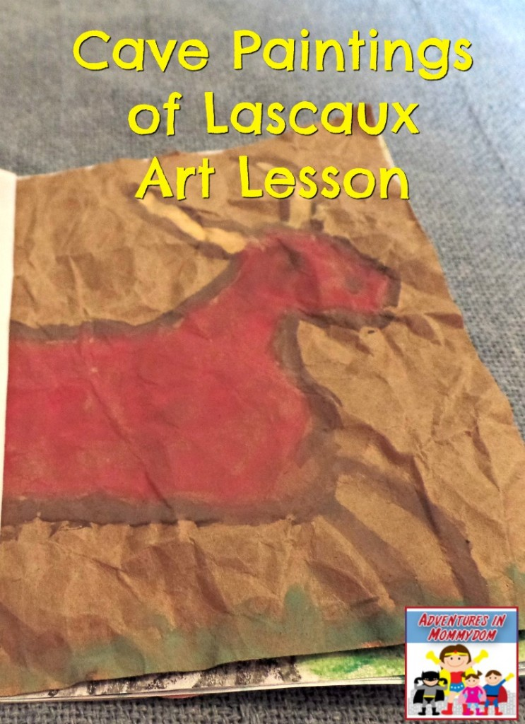 Cave paintings of Lascaux art lesson