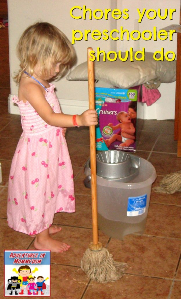 Chores your preschooler should do