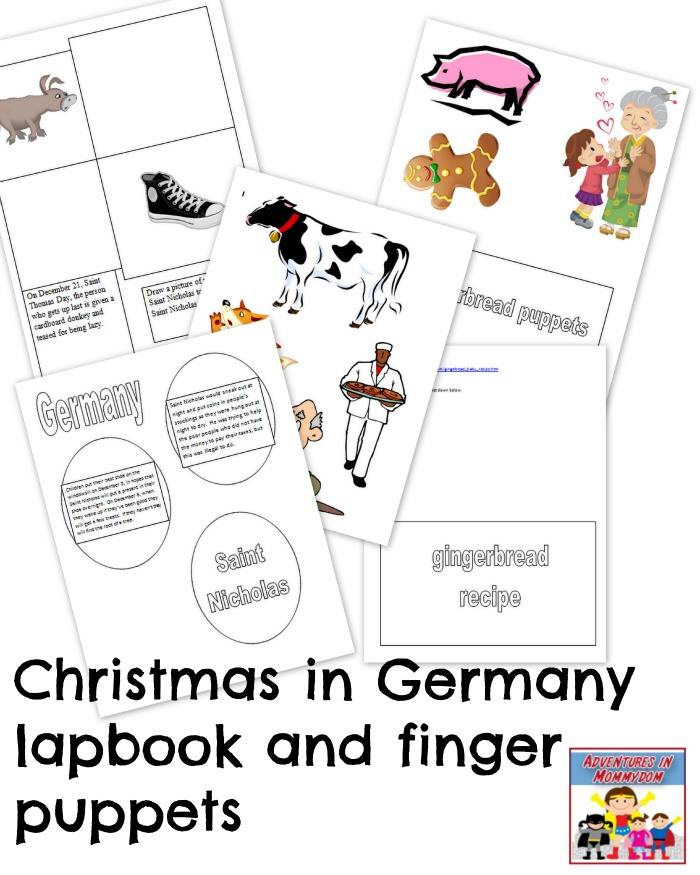 Christmas in Germany lapbook printable