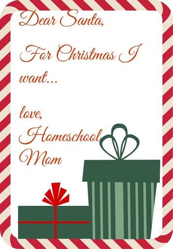 Christmas presents for homeschool Mom