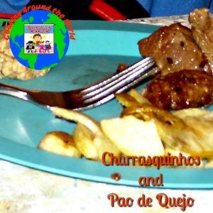 Churrasquinhos and pao de quejo