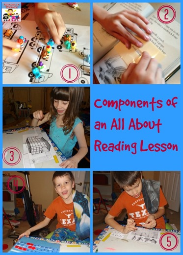 Components of an all about reading lesson
