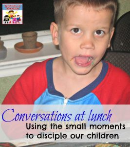 Conversations at Lunch, using small moments for family discipleship