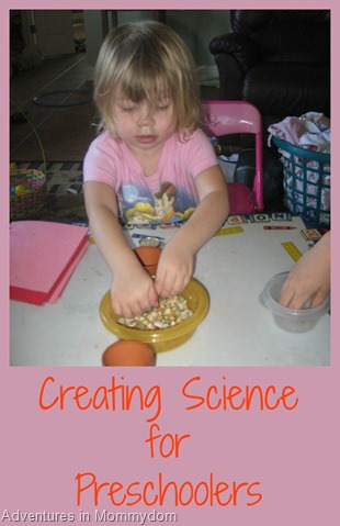 Creating Science for preschoolers